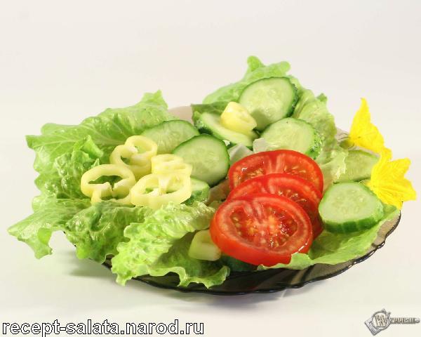 Летний салатик фото
